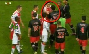 Capture d'écran d'un match du championnat des Pays-Bas, Ajax Amsterdam - PSV Eindhoven, le 20 novembre 2010.