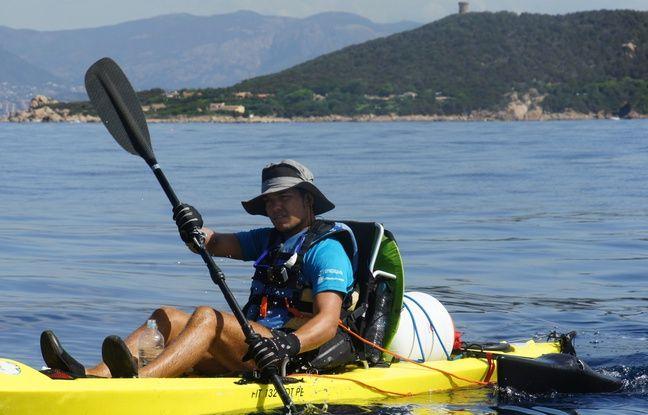 Son demi-tour de Corse en kayak en 2015 a déclenché son goût de l'aventure.
