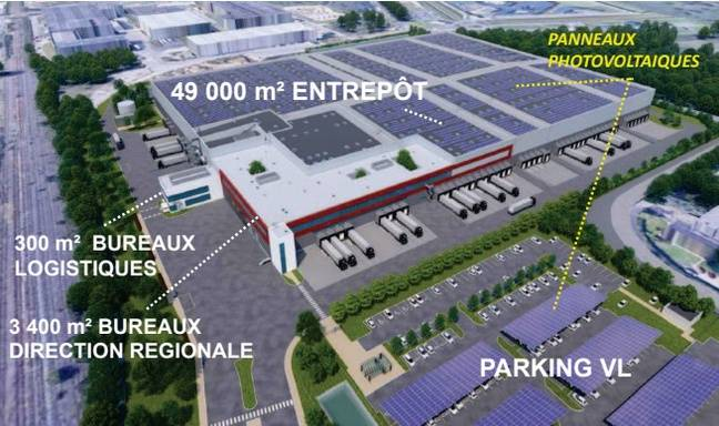 Projet de la nouvelle plateforme logistique régionale de Lidl à Carquefou.