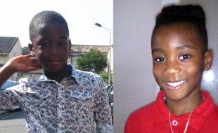 Andy, à gauche et Eyrane-David, à droite, les deux cousins qui ont disparu samedi à Eysines, près de Bordeaux.