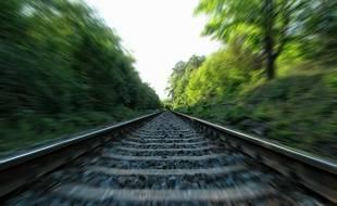 Illustration de rails d'un chemin de fer.