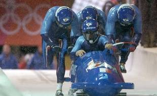 Le bob à quatre français lors des JO de Turin, le 24 février 2006.