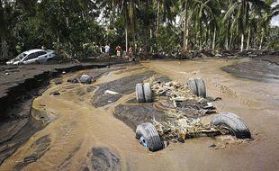 Les dégâts provoqués par le typhon Goni aux Philippines en octobre 2020.