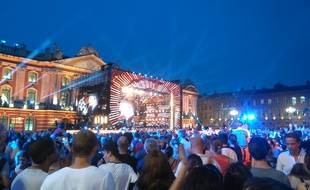 Lors de l'édition 2017 de la Fête de la musique, place du Capitole.
