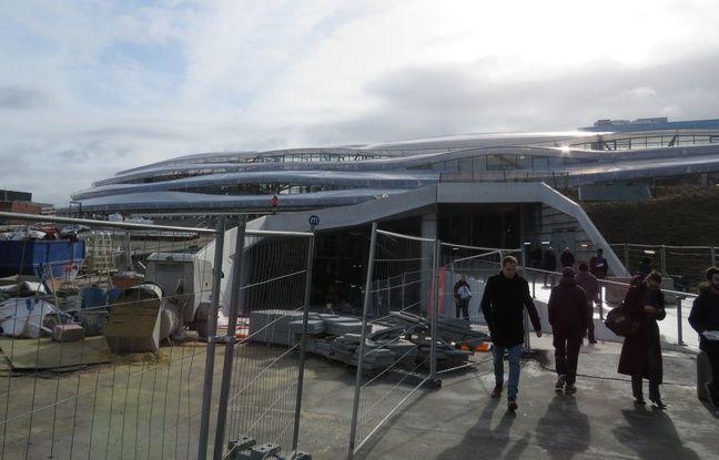 Entrée de la nouvelle gare de Rennes, toujours en chantier, le 11 février 2019.