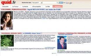 La page d'accueil du site quid.fr