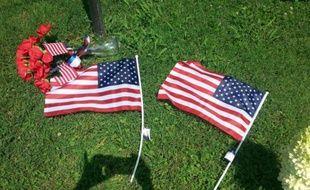 Mémorial aux victimes de la fusillade de Chattanooga, le 17 juillet 2015