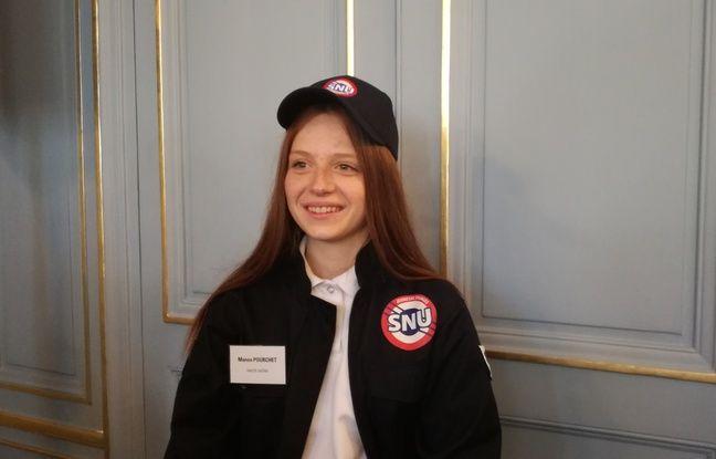 Manon, 16 ans, une des pionnières du SNU, le 18/04/2019.