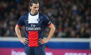 Zlatan Ibrahimovic contre Saint-Etienne le 17 mars 2014.