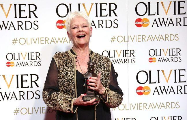 Judi Dench aux Olivier Awards  à Londres le 3 avril 2016