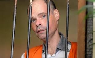 François Jacques Giuily avant son procès pour trafic de drogue à Denpasar, en Indonésie, le 9 juin 2014