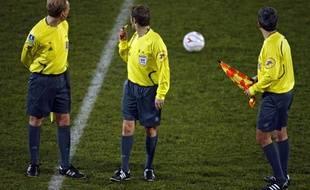 Illustration sur les arbitres de football ici lors d'un match à Valenciennes dans le Nord.