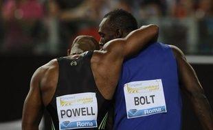 Les Jamaïquains Usain Bolt, triple champion olympique à Pékin, et Asafa Powell renouvelleront leur duel de 2011 sur 100 m à Rome lors de la réunion au stade olympique, le 31 mai, comptant pour la Ligue de diamant, ont indiqué les organisateurs.