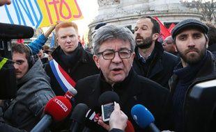 Jean-Luc Mélenchon, début mars à Paris