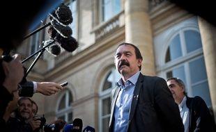 Philippe Martinez, secrétaire général de la CGT. Photo by Nicolas Messyasz / Sipa Press//NICOLASMESSYASZ_2016_06_17a_213a/Credit:NICOLAS MESSYASZ/SIPA/1606171217