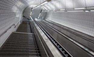 La station de métro Capitole à Toulouse... vide pendant le confinement.