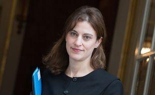Juliette Méadel devant l'hôtel de Matignon en décembre 2016.