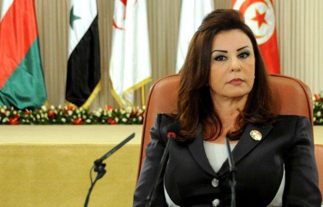 Leïla Ben Ali, épouse de l'ancien président tunisien Zine El  Abidine Ben Ali, lors du 3e Congrès de l'Organisation des Femmes Arabes à Tunis, le 28 octobre 2010.