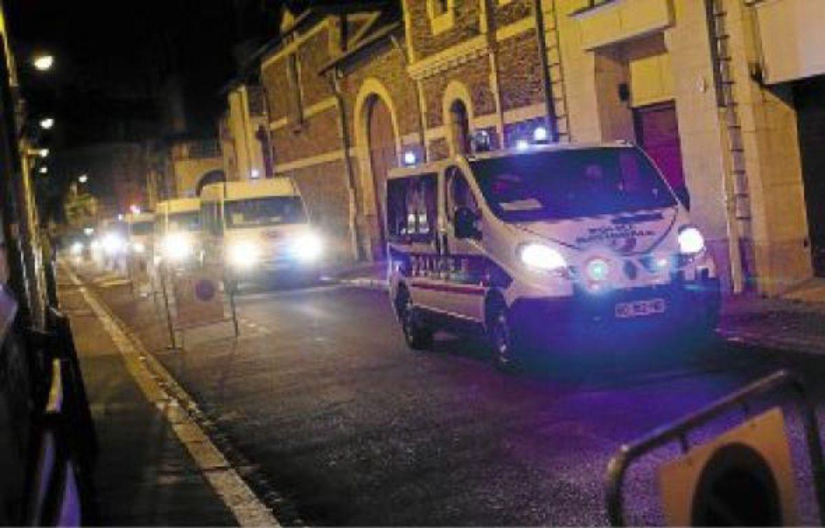 Le convoi a mobilisé quelque 620 policiers et 300 personnels pénitentiaires. –  L. failler / 20 Minutes