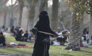 Scène de pique-nique en Arabie Saoudite.