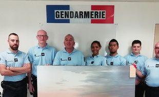 Les gendarmes ont retrouvé le tableau qui s'était volatilisé.