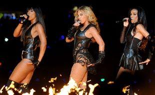 Les Destiny's Child sur scène pour le Superbowl 2013.