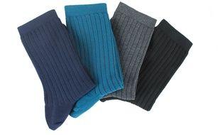 Kindy lance une gamme de chaussettes en vieux jeans recyclés.