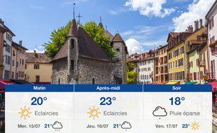 Météo Annecy: Prévisions du mardi 14 juillet 2020