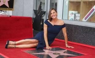 Jennifer Garner lors de l'inauguration de son étoile sur le Walk of Fame d'Hollywood, lundi 20 août 2018 aux États-Unis.