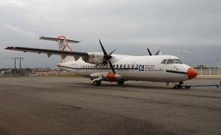 L'ATR42n mis en service en 1987, dort pour l'heure dans un hangar de Blagnac.
