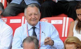 Jean-Michel Aulas, ici lors d'un match de Ligue 1 à Nancy en août.