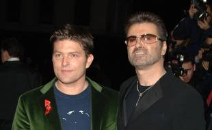 Kenny Goss et le chanteur George Michael à Londres