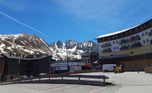Le centre désert du Pas de la Case, en Andorre, le 13 mai 2019.