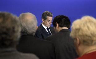 Nicolas Sarkozy le 17 janvier 2015 à l'UMP.