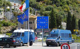 La frontière franco-italienne, à Menton. (illustration)