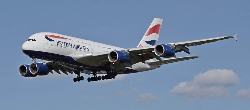 Illustration d'un avion de la compagnie aérienne British Airways.