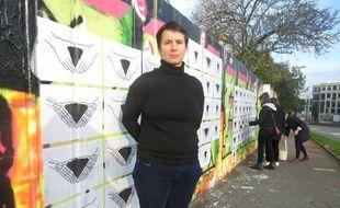 Marion Plumet, artiste plasticienne, a investi plusieurs murs nantais