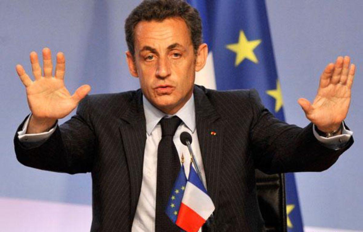 Nicolas Sarkozy, le 13 juillet 2008 au Grand Palais pour lancer le projet d'Union pour la Méditerranée.  – E. FEFERBERG
