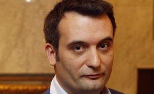 Florian Philippot, ex-vice-président du Front national, président des Patriotes, le 24 avril 2017 à Paris