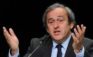 Michel Platini, le président de l'UEFA, le 29 septembre 2015 à Zurich.