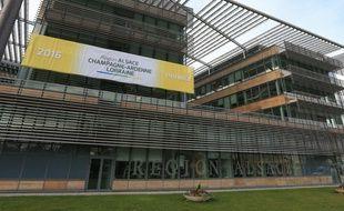 Les citoyens d'Alsace-Champagne-Ardenne-Lorraine vont pouvoir voter du 14 mars au 1er avril pour choisir le nom de la future région. Au choix «Nouvelle Austrasie», «Acalie» ou «Rhin-Champagne». (Illustration siège du conseil régional à Strasbourg)