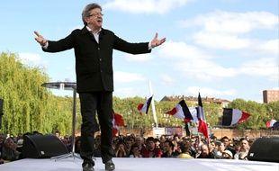 Jean-Luc Mélenchon à Toulouse le 16 avril 2017.
