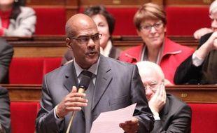 Le député martiniquais (apparenté PS) Serge Letchimy, le 7 février 2012 dans l'hémicycle de l'Assemblée nationale.