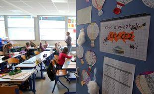 Illustration d'une classe enseignant le breton, ici à Rennes.