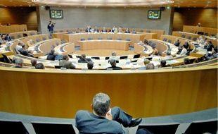 L'hémicycle du conseil régional d'Alsace.