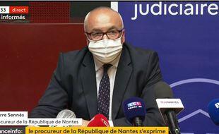 Le procureur de la République de Nantes lors de la conférence de presse, le 28 mai 2021.