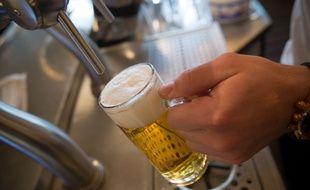 Une bière pression, comme l'aiment les supporters irlandais.