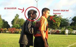 Dimitri Payet à 16 ans avec l'AS Excelsior.