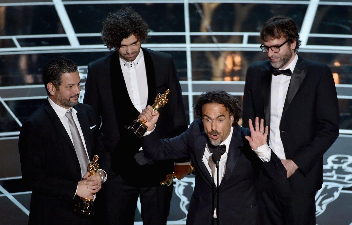 Alejandro Inarritu, Oscar du meilleur réalisateur pour «Birdman», le 22 février 2015. – K.WINTER/AFP