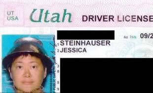 Capture d'écran du permis de conduire d'Asia Lemmon, sur le site thespectrum.com